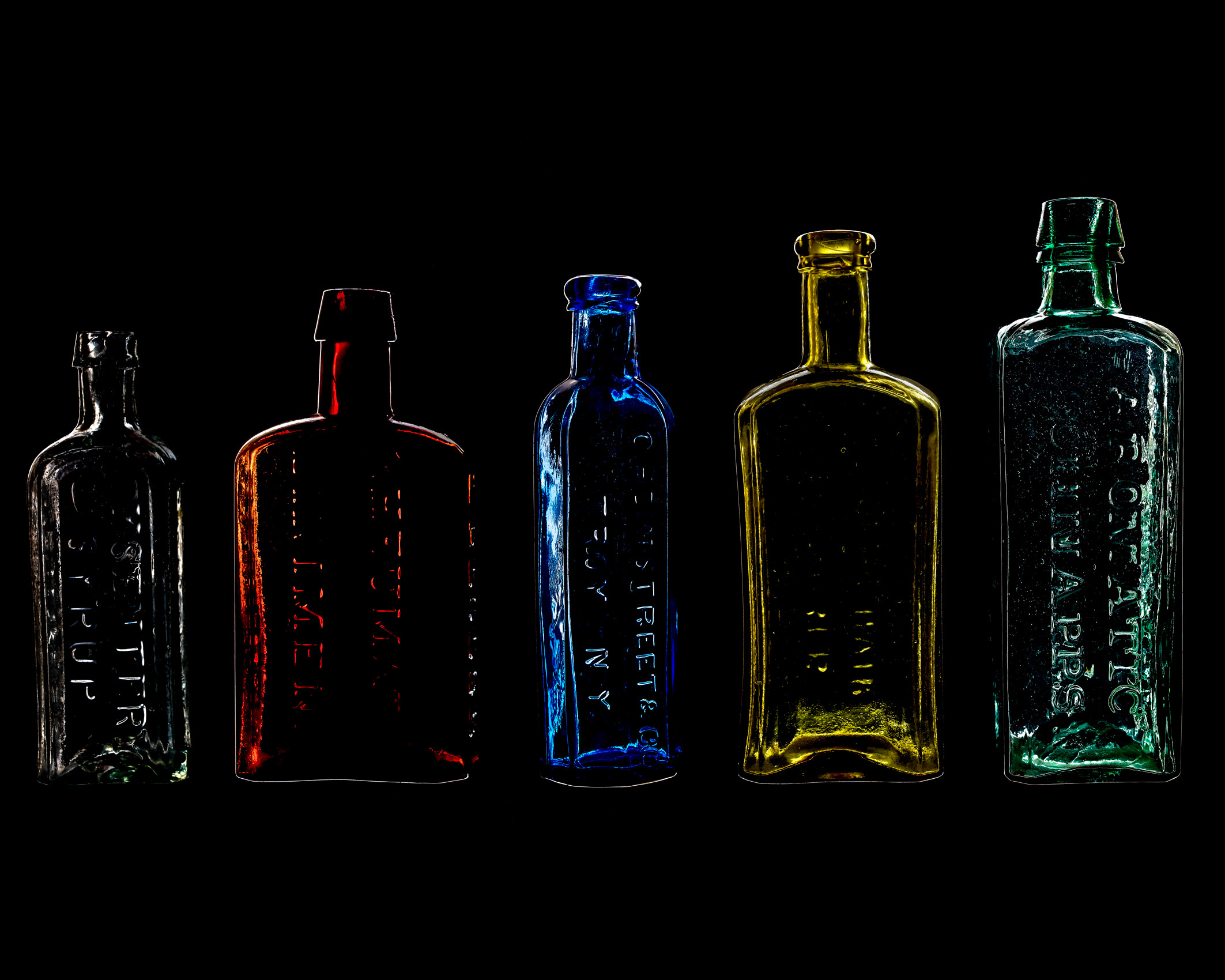 Colors of Old Bottles
