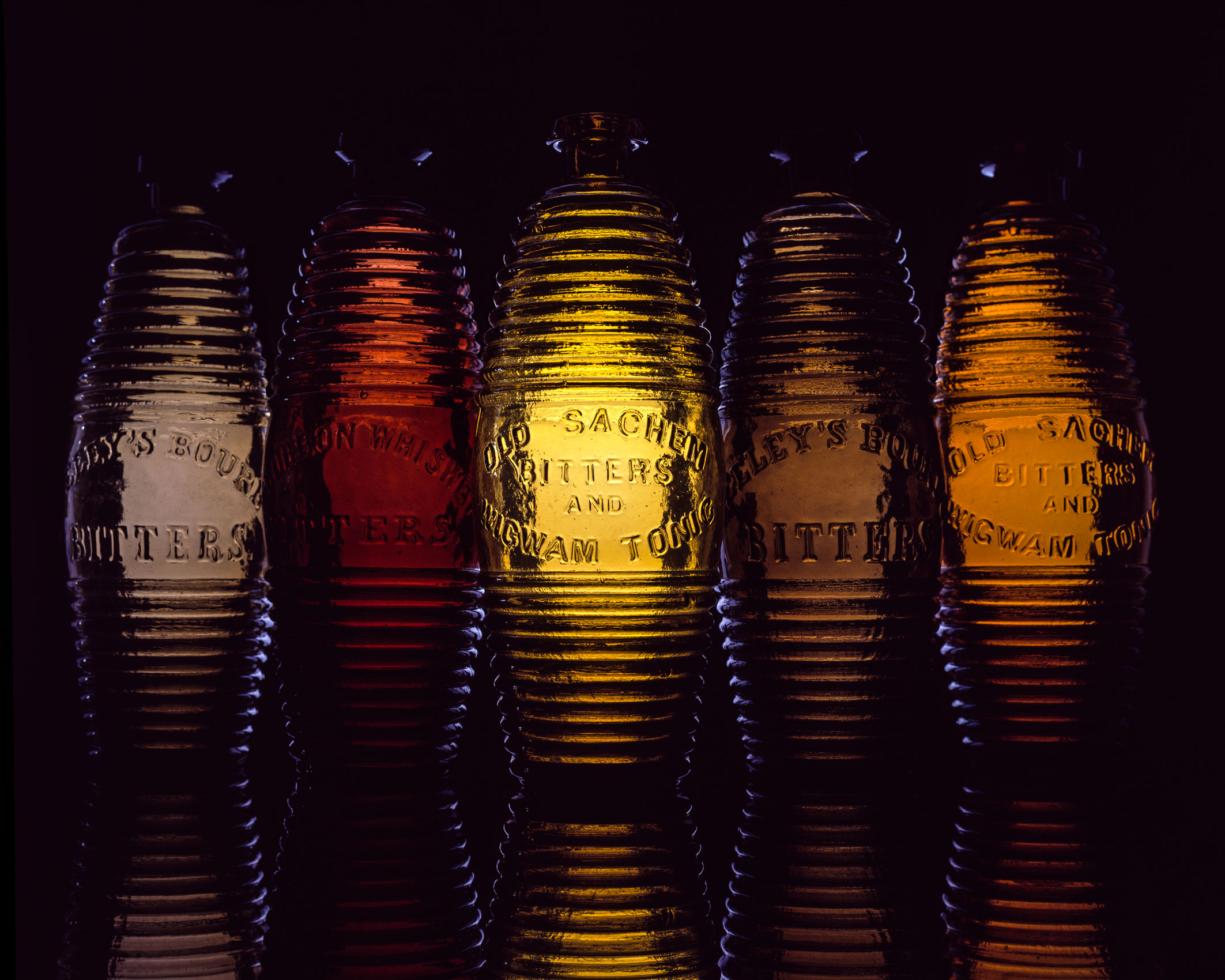 Antique Bitter Barrel Bottles