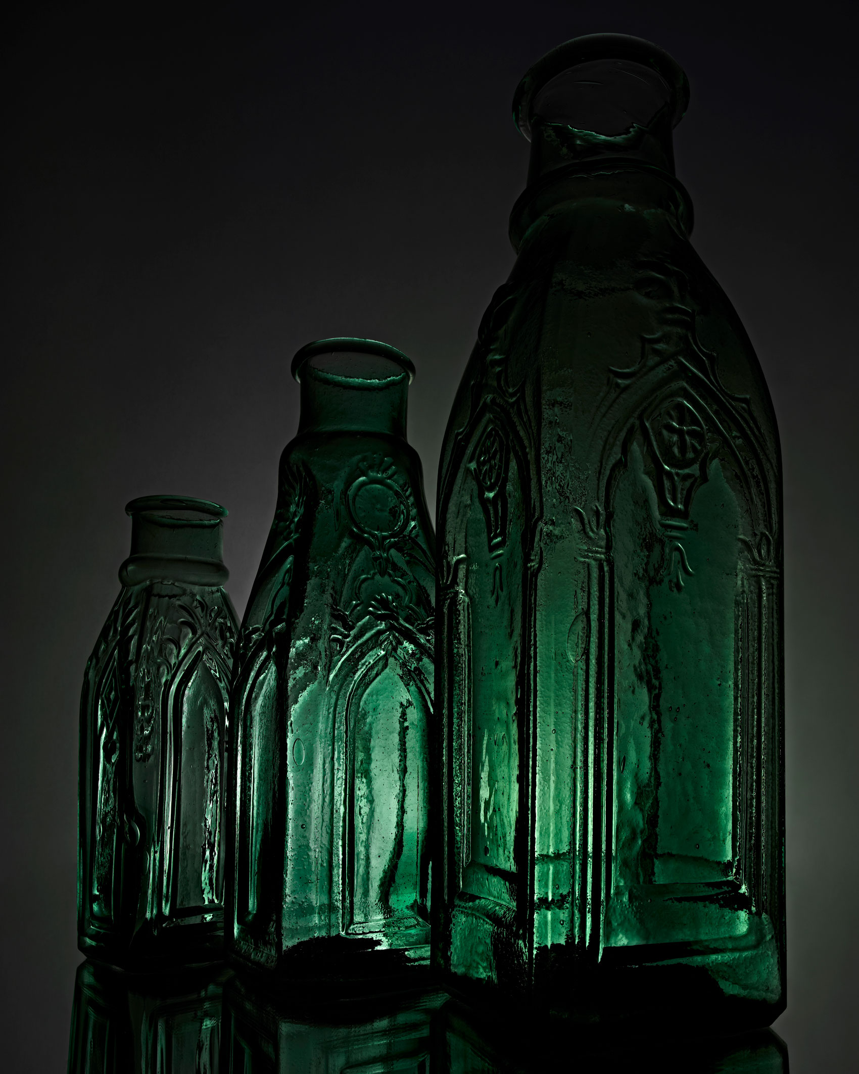 Cathedral Pickle Bottles