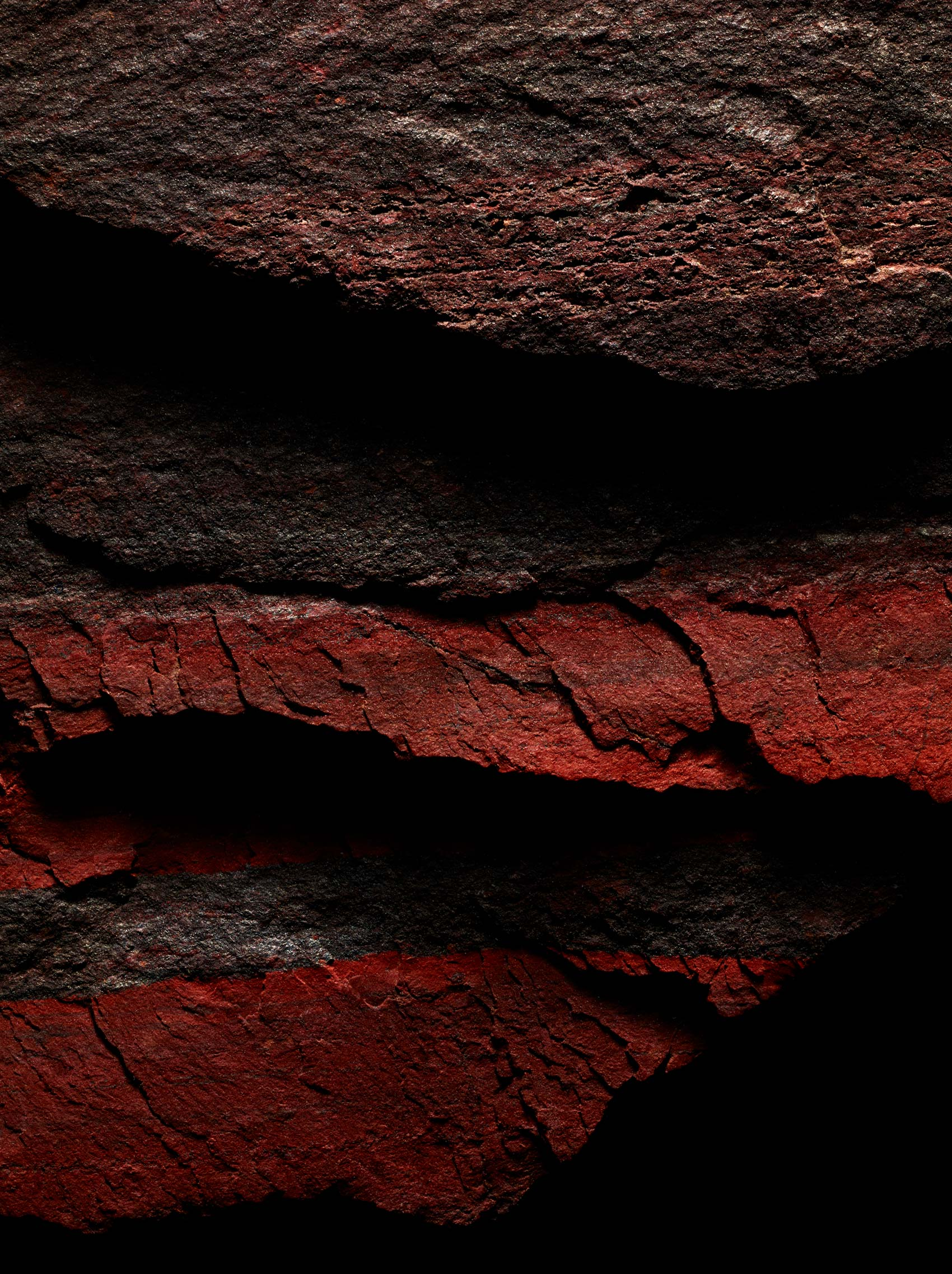 Macro Photography of Red Rocks