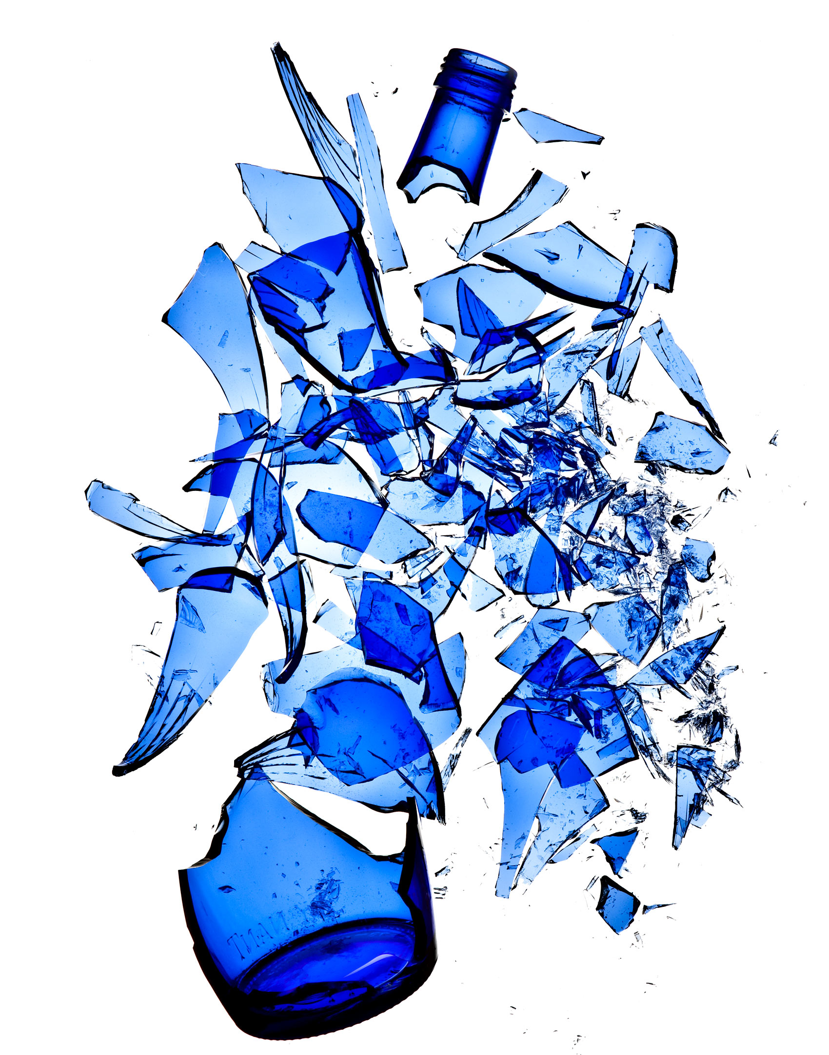 Broken Blue Bottle